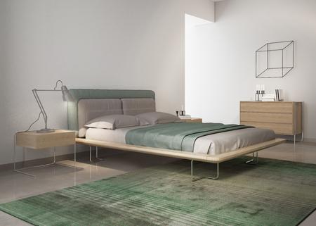 contemporary: Contemporary green bedroom