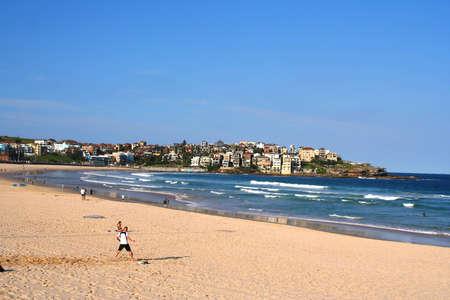 Bondi Beach, Sydney. Cool winter evening. photo