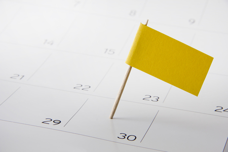 Flag on the event day on calendar Stock Photo