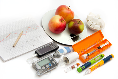 Accessories you need to control diabetes Фото со стока - 67056136
