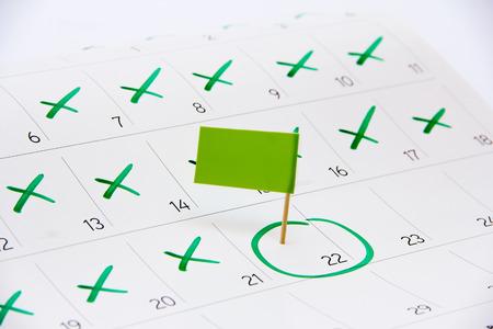 Contrassegna il giorno dell'evento o la scadenza sul calendario 2016