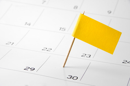 Flag the event day or deadline on calendar