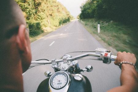 Biker On Countryside  photo