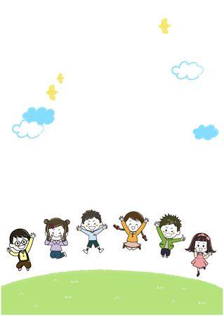 Energetic Children Illustration