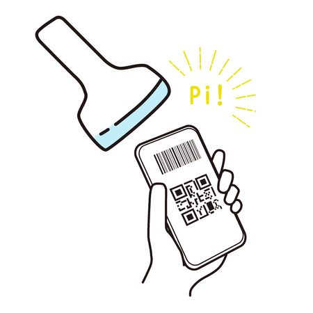 This is an illustration reading barcode for the mobile settlement. Illustration