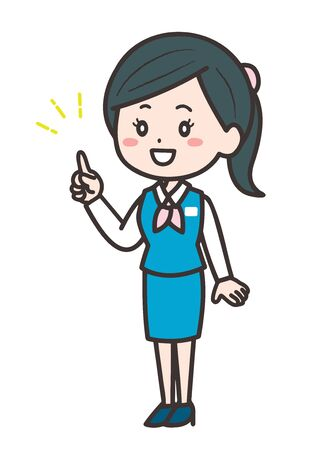 This is an illustration of a business woman pointing. Vector image.