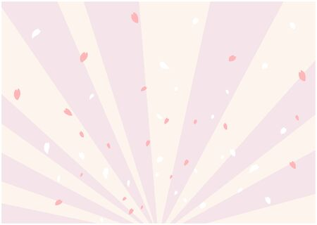 This is an illustration of a spring-colored background created with a wide line. Vector image.