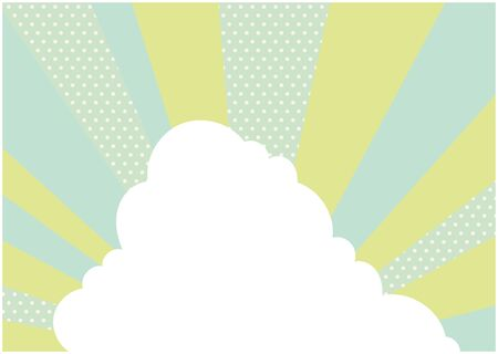 This is an illustration of a cloud with a green spread background. Vector image.