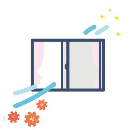 It is an illustration of ventilation. Vector image.