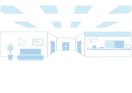 It is an illustration in the hospital. Vector image. Ilustracje wektorowe