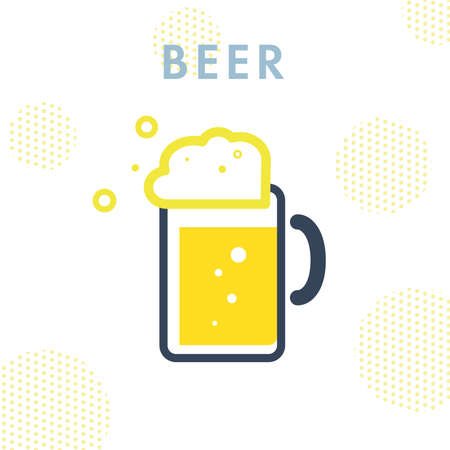 It is an illustration of beer. Vector image.