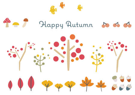 It is an illustration material with the image of autumn. Vector image.