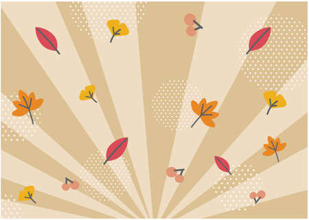 It is a background that spreads radially in the image of autumn. Vector image.