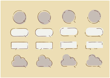 It is a design material of hand-drawn speech balloon.
