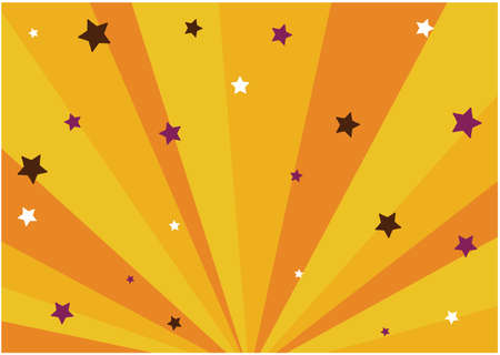 It is a star with a radiant Halloween background. Vector image.