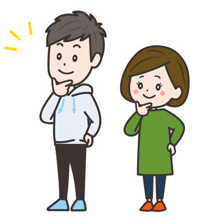 It is an illustration of the man and woman who are interested. Vector image.