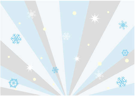 It is an illustration material of the background and the snow crystal which spreads radially in the image of winter. It is a vector image.