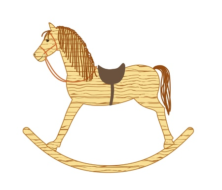 wooden rocking horse Vector