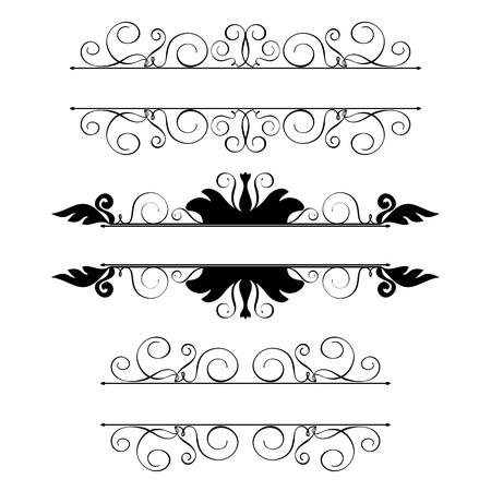 Set kalligraphische Design-Elemente und Dekoration Seite