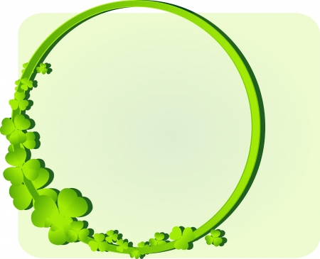green frame with clover leaves Vector