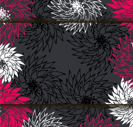 Decorative floral background with flowers Stock Vector - 18422827