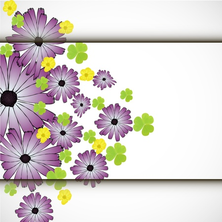 colorful flower with shadow background Stock Vector - 18441744