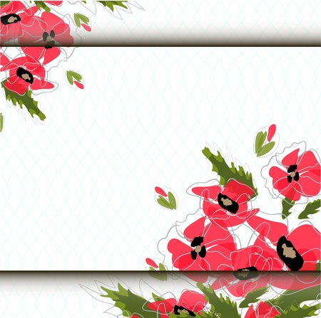 Card with abstract floral background. Illustration