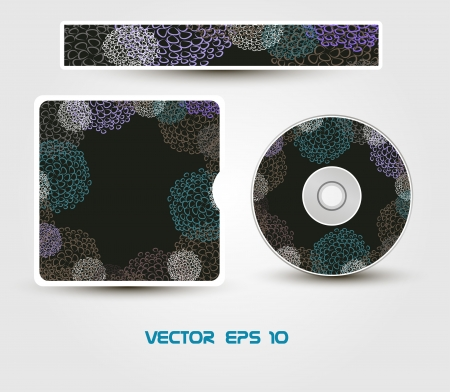 CD cover Layout Design Template, Preview Editable Stock Vector - 18526116