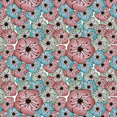 luau party: Vector sin fisuras patr�n de flores Vectores