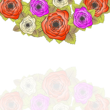 Set of roses. Vector illustration. Vector