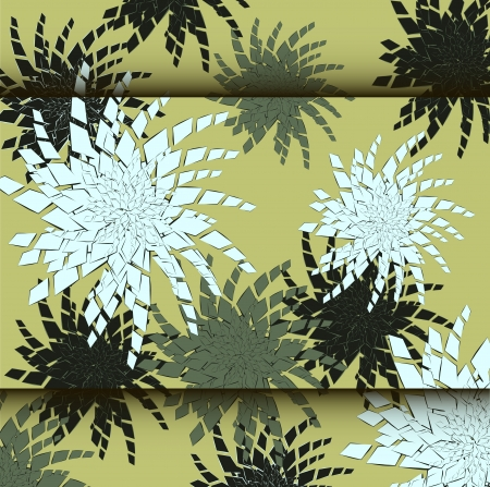 Abstract flowers background with place for your text Illustration