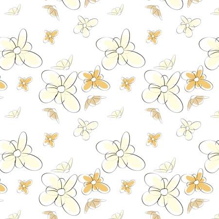 luau party: Vector Seamless patr�n floral.