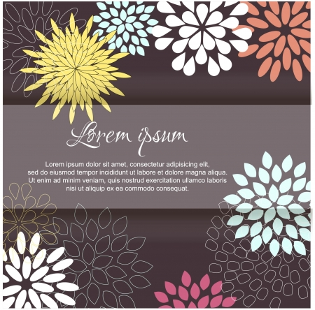 Card with abstract floral background
