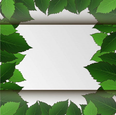 leaves space Stock Vector - 18528371