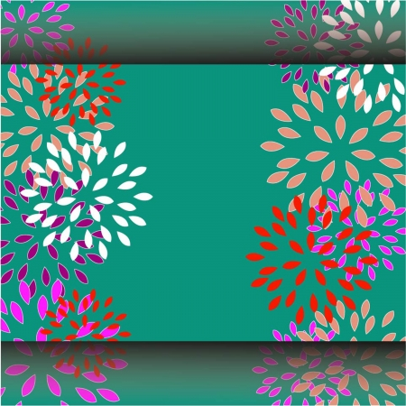 Invitation or wedding card with abstract floral background  Stock Photo