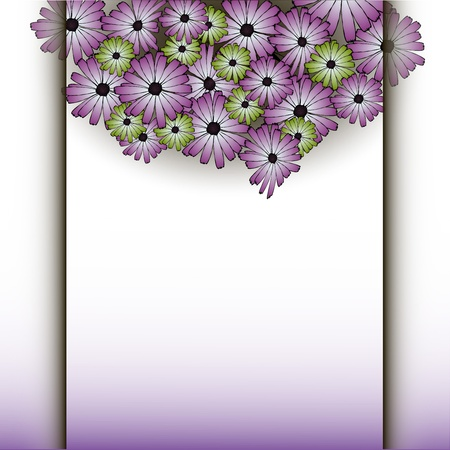 colorful flower with shadow background   illustration