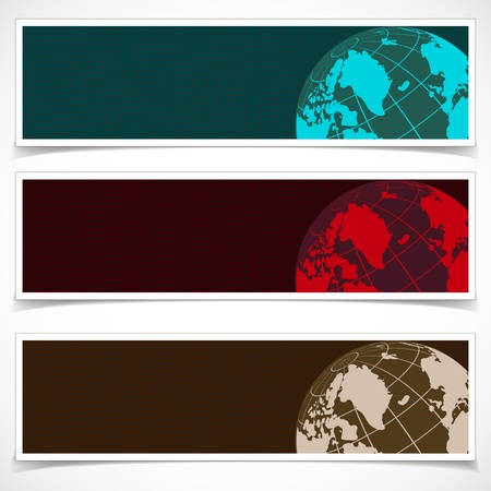 Set of Banners  Abstract Background    Stock Photo