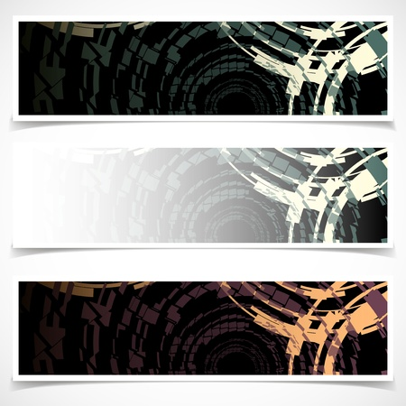 Set of Banners  Abstract Background