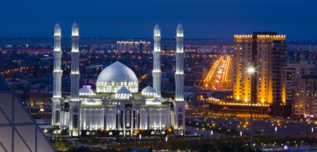 Night city, Astana, Kazakhstan