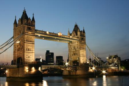 adulation: Night Tower Bridge Stock Photo