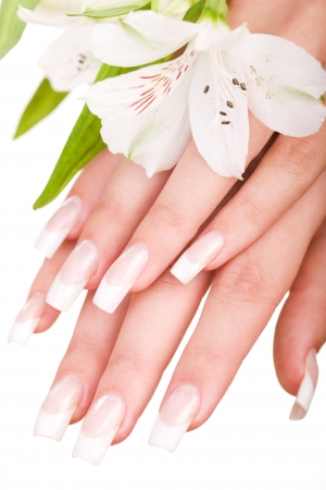 Closeup image of beautiful nails and woman fingers Stock Photo - 3864408