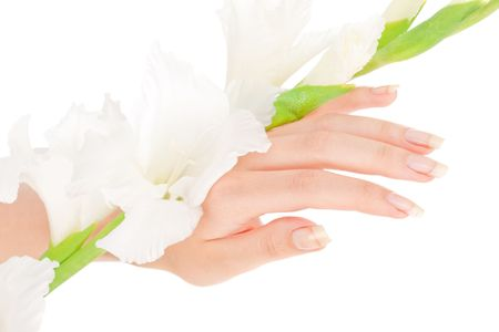 Beautiful nails and fingers over isolated white Stock Photo - 5772259