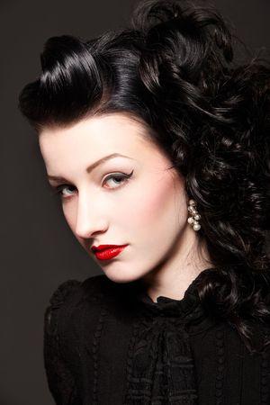 Portrait of beautiful burlesque girl Stock Photo - 6391362