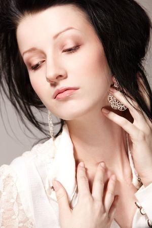 Portrait of beautiful woman in sorrow Stock Photo - 6408269