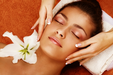 Portrait of young woman getting a spa treatment Stock Photo - 8294416