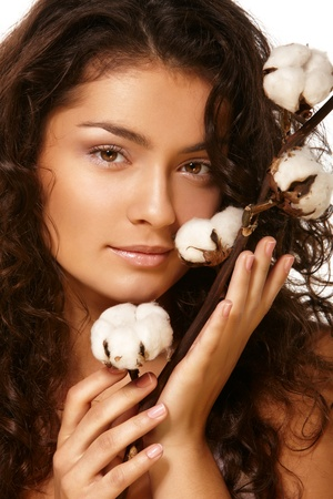 Portrait of a model with cotton Stock Photo - 8294418