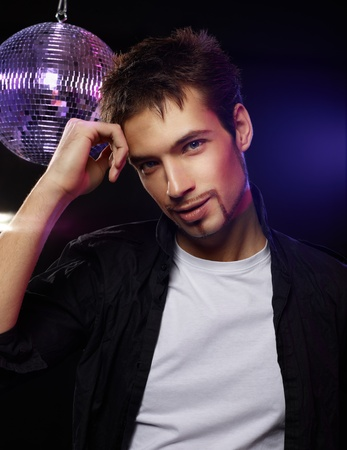 Portrait of a handsome male on in a club Stock Photo - 13288625