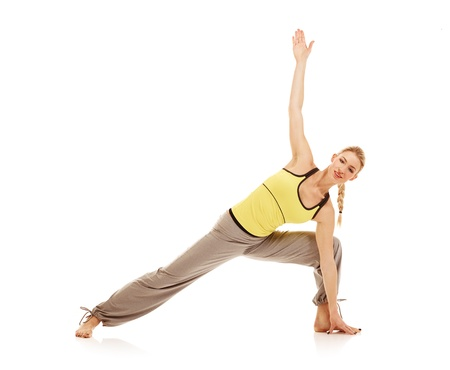 Young female athlete doing aerobics Stock Photo - 17415208