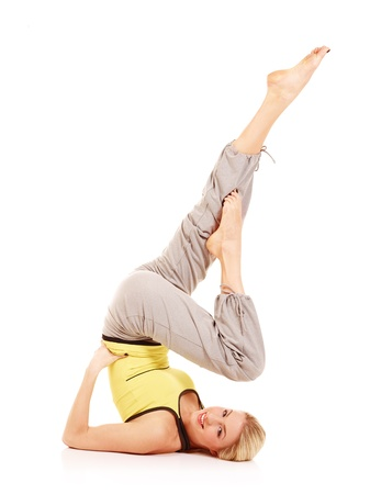 Young female athlete doing aerobics Stock Photo - 17415203