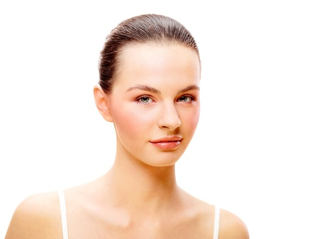 Young female beauty portrait over isolated white background Stock Photo - 18381876